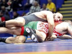 L'italiano Nikoloz Kakhelashvili nel combattimento per il bronzo perso contro il georgiano Giorgi Melia