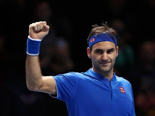 Roger Federer, 37 anni, ha chiuso in testa il gruppo Hewitt GETTY