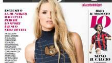 Michelle Hunziker sulla nuova cover di Fuorigioco.