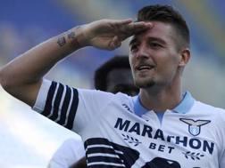 Sergej Milinković-Savić, centrocampista della Lazio. Getty
