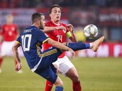 Miralem Pjanic, 28 anni, impegnato nel match con l'Austria EPA