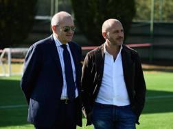 Giovanni Gardini, cfoo dell'Inter, e Piero Ausilio, direttore sportivo. Getty