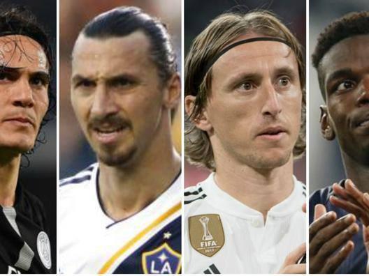 Cavani, Ibrahimovic, Modric e Pogba. Getty
