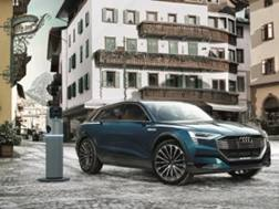 La Audi e-tron è l'auto di Cortina per il 2019