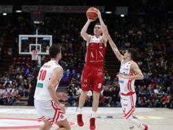 Dairis Bertans, 29 anni, guardia lettone di Milano, seconda stagione all'Olimpia CIAM