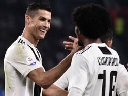 Cristiano Ronaldo con Juan Cuadrado, ANSA