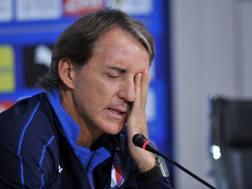Roberto Mancini, c.t. della Nazionale italiana. Getty