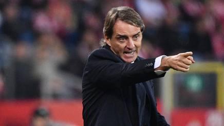 Il c.t. Roberto Mancini. Lapresse