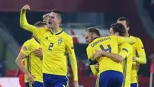 La Svezia esulta dopo la vittoria. AP