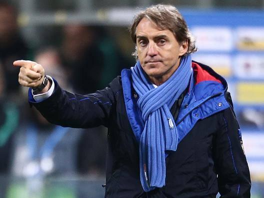 Roberto Mancini, c.t. dell'Italia. Lapresse