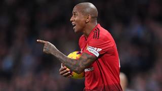 Ashley Young , 33 anni, esterno sinistro del Manchester United. Getty Images