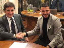 Il presidente del Torino Urbano Cairo con Iago Falque, 28 anni