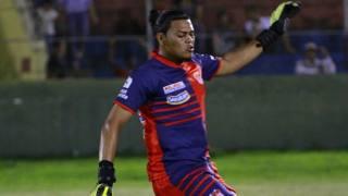 """Oscar Munguía durante una partita del Club Deportivo y Social Vida. Dalla pagina Facebook """"In memoria di Oscar Munguía"""""""