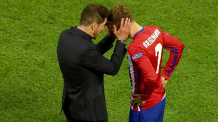Diego Simeone, Antoin Griezmann. GETTY IMAGES