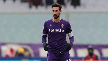 Davide Astori  con la maglia della Fiorentina. Getty Image
