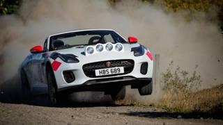 La Jaguar F-Type  Rally