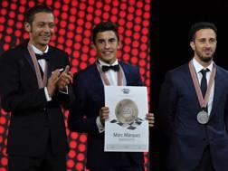 Da sinistra Rossi, Marquez e Dovizioso