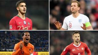 Andre Silva, Harry Kane, Virgil Van Dijk e Haris Seferovic