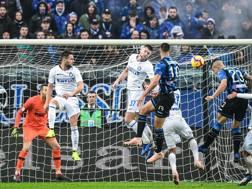 l gol di Gianluca Mancini contro l'Inter. AFP