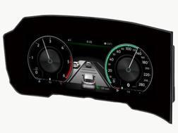La forma curva dell'Innovision Cockpit della Bosch