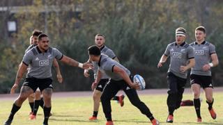 Una fase dell'allenamento degli All Blacks a Roma FAMA