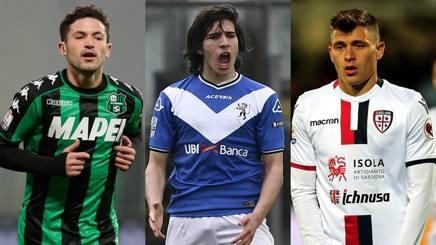 Stefano Sensi, 23 anni, Sandro Tonali, 18 anni, e Nicolò Barella, 21 anni.