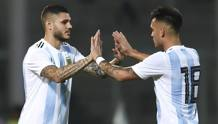 Mauro Icardi, Lautaro Martinez. GETTY IMAGES