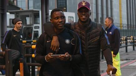 Kwadwo Asamoah, 29 anni, (a sinistra) con Keita Balde, 23 Getty