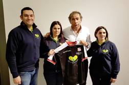 Nella foto mamma di Chicca Francesca Viganò e i volontari Alessandro Viganò e Lidia Buratto. Foto Twitter Carpi