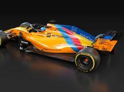 La livrea della McLaren di Alonso per il GP di Abu Dhabi
