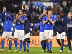Gli azzurrini dopo la sfida contro l'Inghilterra, penultima amichevole del 2018. Lapresse