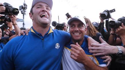 Francesco Molinari (ds) e Jon Rahm