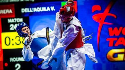 Vito Dell'Aquila in piena azione nel Grand Prix Final