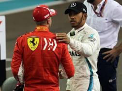 Scambio di battute fra Hamilton e Vettel. LaPresse