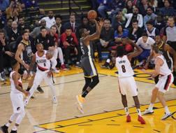 Kevin Durant contro i Blazers