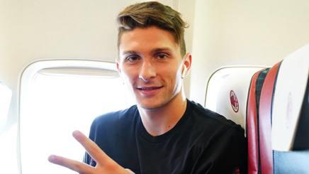 Mattia Caldara, difensore del Milan. Lapresse