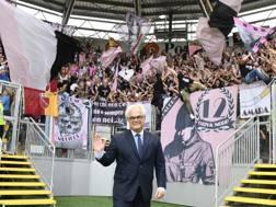 L'ex presidente del Palermo Giammarva. LaPresse
