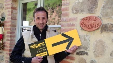 Andrea Tafi, vincitore della Roubaix 1999.