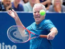 John McEnroe, 59 anni, ha vinto 3 volte Wimbledon. Afp