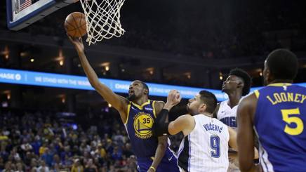 Kevin Durant in azione. Afp