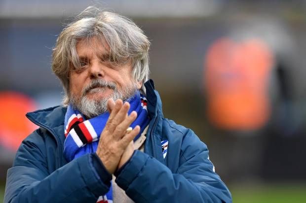 Massimo Ferrero, 67 anni, presidente della Samp. Ansa