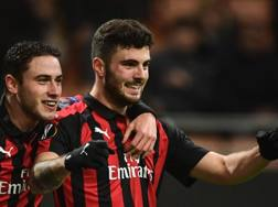 Patrick Cutrone, attaccante del Milan. Getty