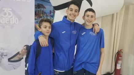 Antonio Garrone con Denis Baretta e Teodoro Del Vecchio
