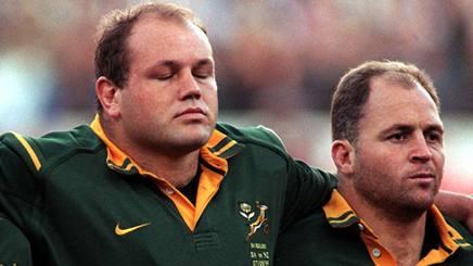 Drotske, a destra, con Os du Randt nel Sudafrica