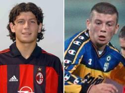 Donati con la maglia del Milan e del Parma. Getty