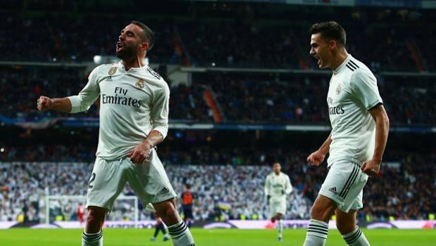 L'esultanza del Real dopo il gol dell'1-0. Getty