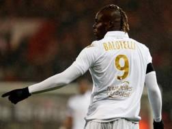 Mario Balotelli, attaccante del Nizza. Afp