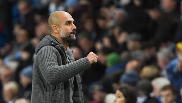 Pep Guardiola , allenatore del Manchester City. Afp