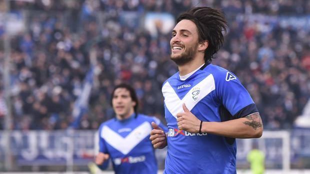 L' esultanza di Ernesto Torregrossa dopo il gol, LaPresse