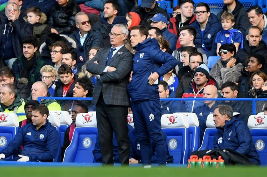 Claudio Ranieri con il suo assistente Scott Parker. Getty